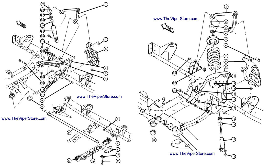 control arm diagrams