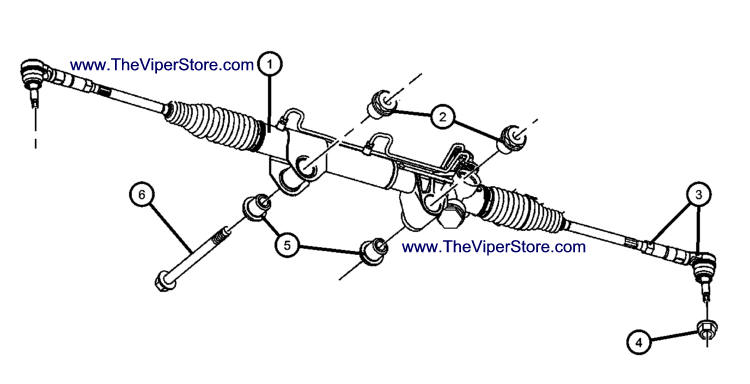 ram srt10 2004 2006 factory parts diagrams rack pinion power rh theviperstore com dodge ram steering parts diagram dodge 2500 steering diagram