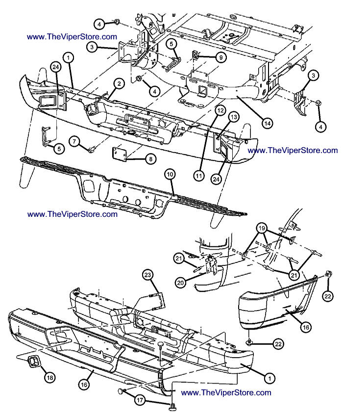 Rear Bumper Diagram