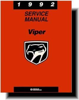 dodge viper 1992 2002 service manuals rh theviperstore com 2006 dodge viper owners manual 1994 dodge viper service manual pdf