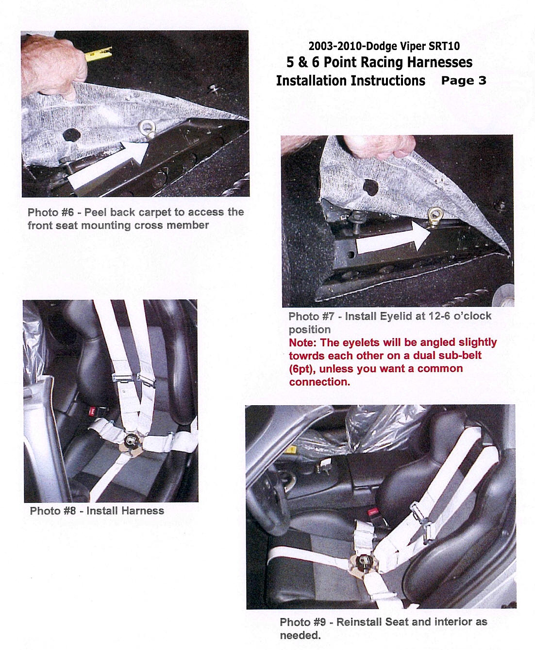 V3 4_5 6ptHarness_54 dodge viper 5pt 6pt racing harness seat belt directions Dodge Viper Truck at aneh.co