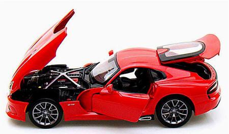 DODGE VIPER GST SRT 1:24 scale diecast model die cast cars models metal red