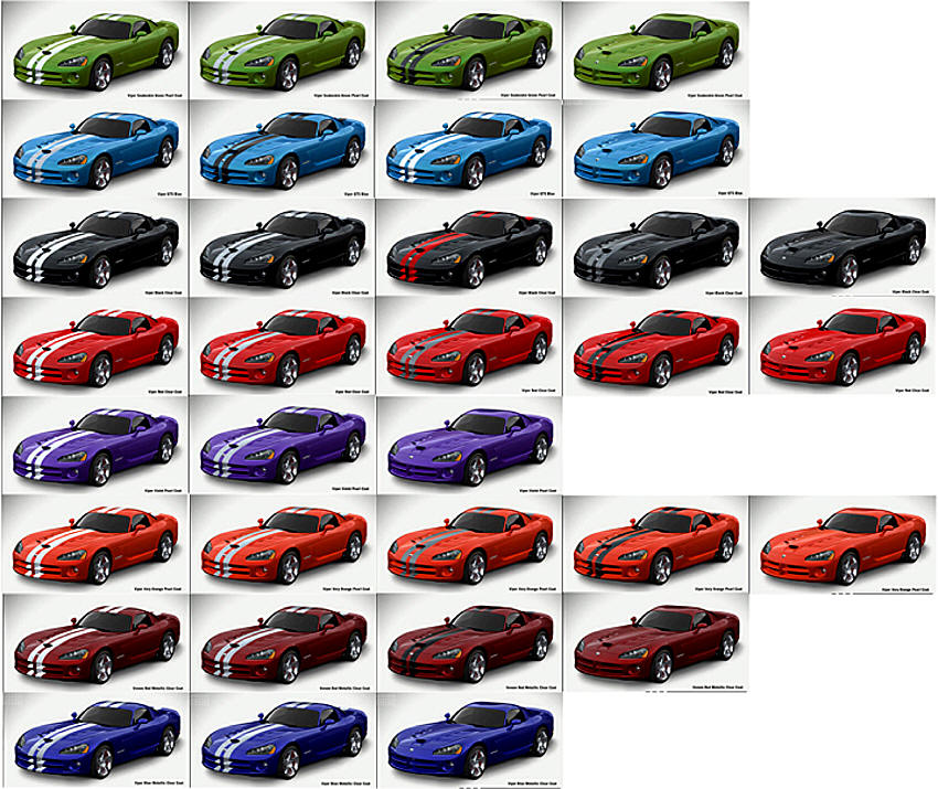 Dodge Viper Srt10 2008 2009 2010 Generation 4 Information Statisics