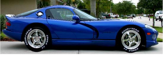 "CHRYSLER VIPER 2003-2010 19/"" FACTORY ORIGINAL WHEEL RIM REAR"