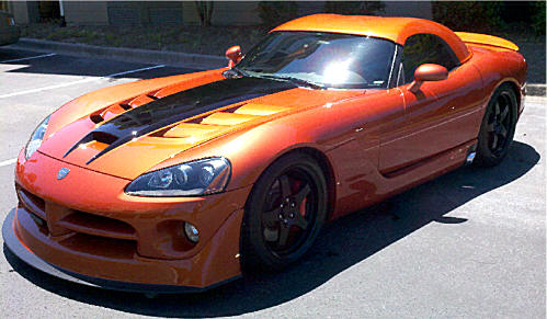 Viper Modified on 1993 Dodge Dakota Hood